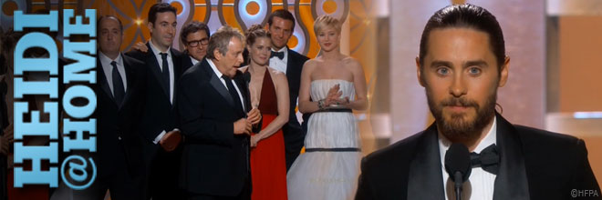Heidi@Home: And the Golden Globe goes to ...