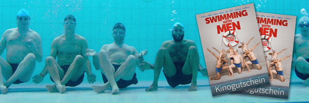 >Swimming with Men - Gewinnspiel