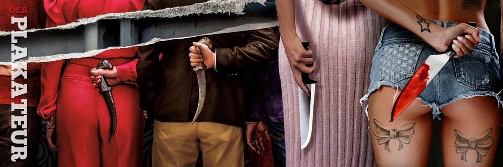 Der Plakateur: Messer hinter dem Rücken