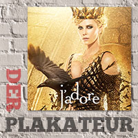 Der Plakateur: Charlize Theron in Gold