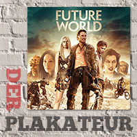 Der Plakateur: Future in blue and orange