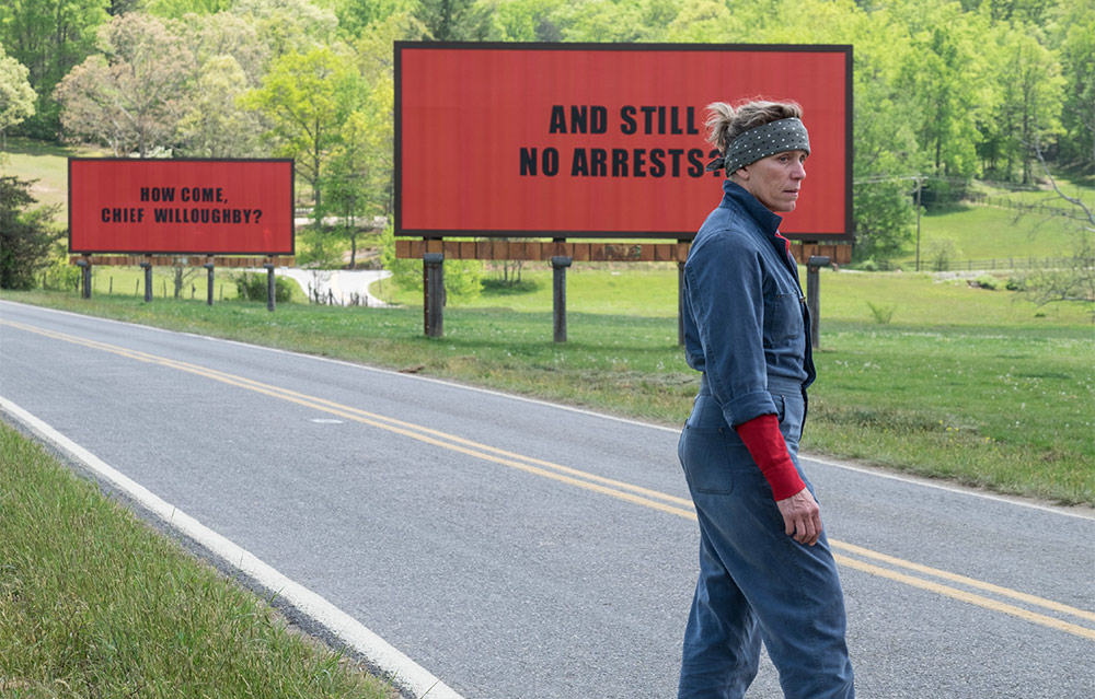 Szenenbild aus dem Film Three Billboards Outside Ebbing, Missouri