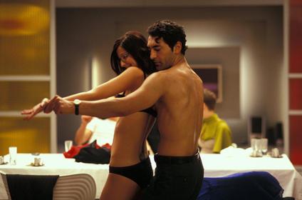 nackt in einem film