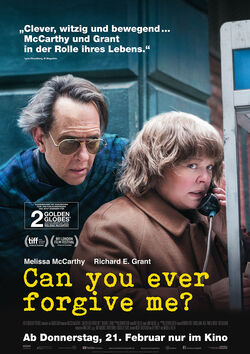 Filmplakat zu Can You Ever Forgive Me?