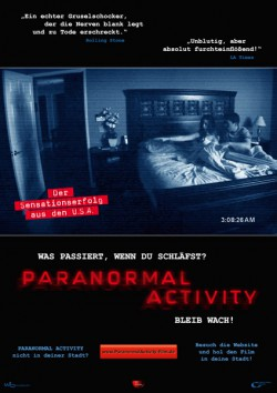 Filmplakat zu Paranormal Activity