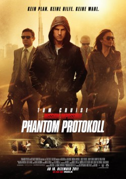 Filmplakat zu Mission: Impossible - Phantom Protokoll