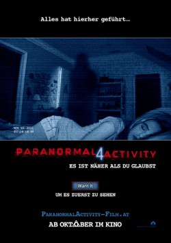 Filmplakat zu Paranormal Activity 4