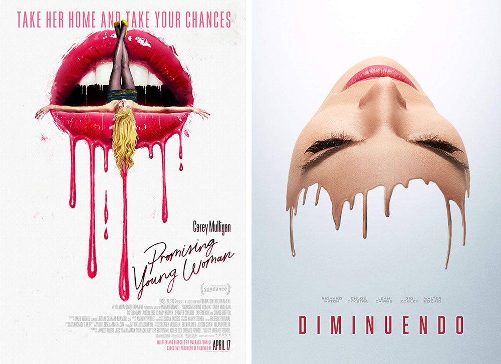 "Poster zu ""Promising Young Woman"" und ""Diminuendo"""